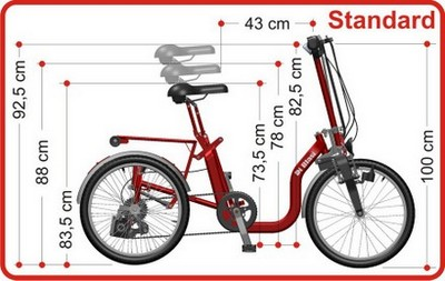 R34 Folding Tricycle Dimensions